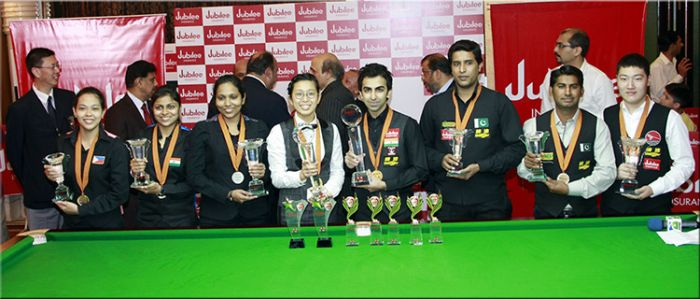 Medal winners of 2015 IBSF World 6Reds Championships