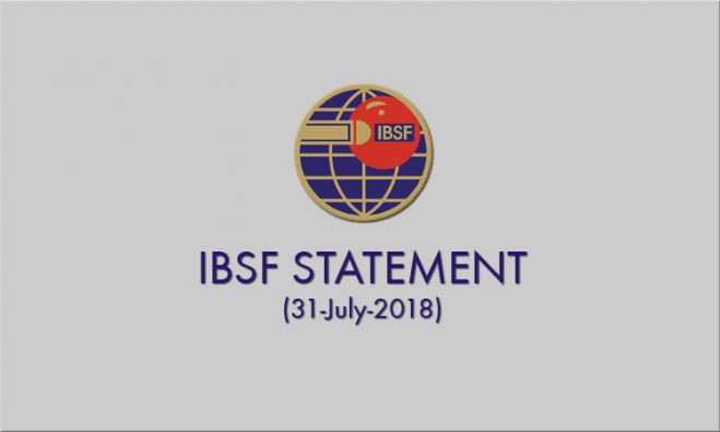 Letter from IBSF President