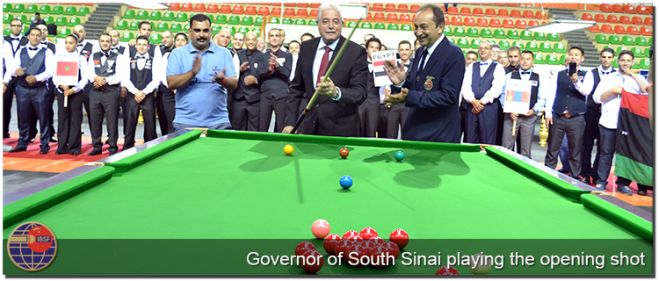 Chief Guest Mr. Khaled Fouda, Governor of South Sinai with General Secretary of IBSF, Mohammed El Kammah