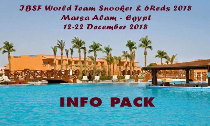Additional entries for World 6Reds and Team Snooker