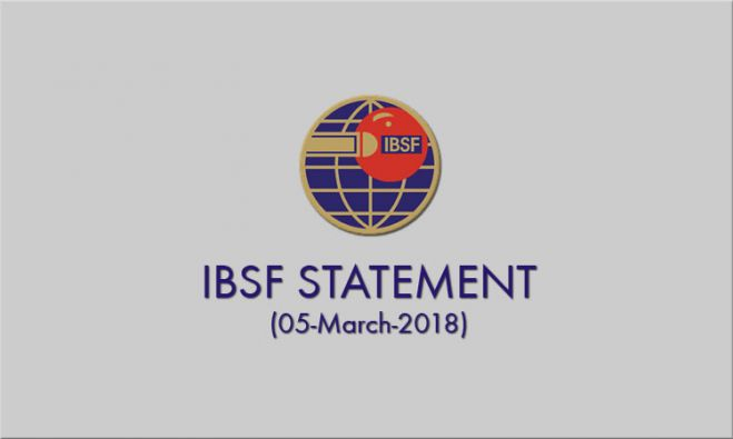 IBSF Statement: 05 March 2018