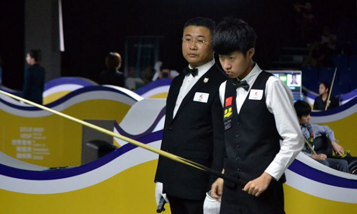 Bingyu Chang hits first century of Under-21 event