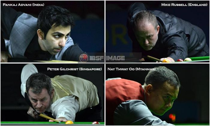 Advani, Russell, Gilchrist and Nay Thway grabbed top four slots for knockout
