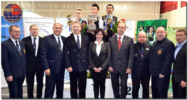 Medal Ceremony of 2013 IBSF World Championship