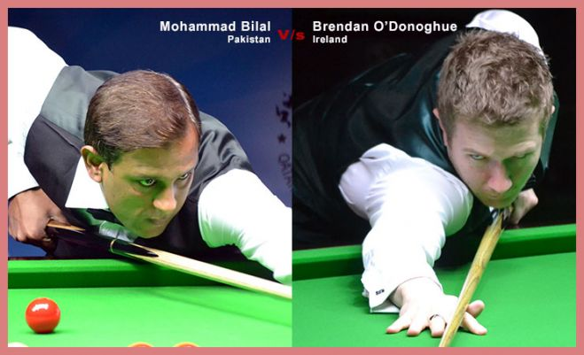 FINALISTS: Mohammad Bilal of Pakistan and Brendan O'Donoghue of Ireland