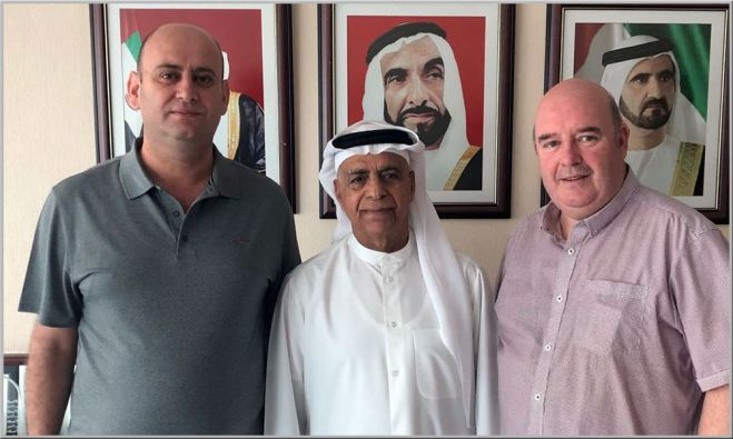 L-R: Michael Alkhoury, Sultan AlJoaker, Jim Leacy
