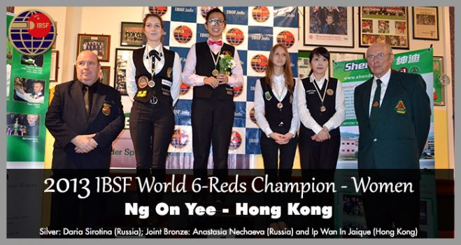 Ng On Yee becomes first World 6Reds Women Champion