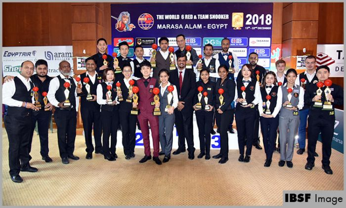 Thailand players win men and women World 6Reds Championships 2018