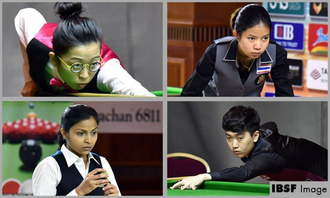 Ng On Yee, Waratthanun, Amee Kamani and Nutcharat are in medals round of World Women 6Reds
