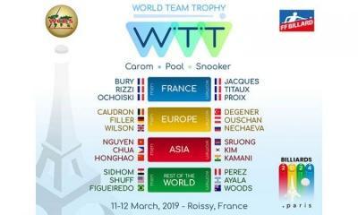 WORLD TEAM TROPHY – BILLIARDS (carom, pool & snooker)