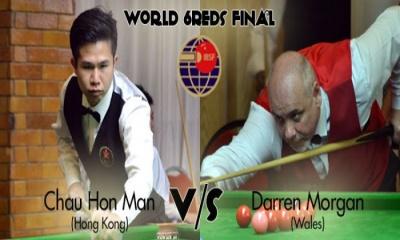 Darren Morgan to meet Chau Hon Man in World 6Reds final