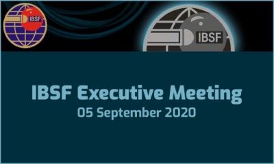 IBSF Executive Meeting - 05 September 2020