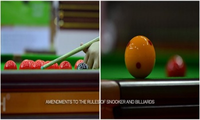 AMENDMENTS TO THE RULES OF SNOOKER AND BILLIARDS