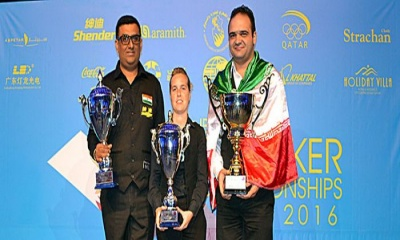 Soheil, Wendy and Lilly are the 2016 World Snooker winners
