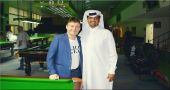 Jimmy White meets IBSF President in Doha
