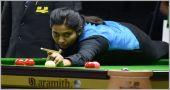 Vidya made highest break of championship, but lost the match